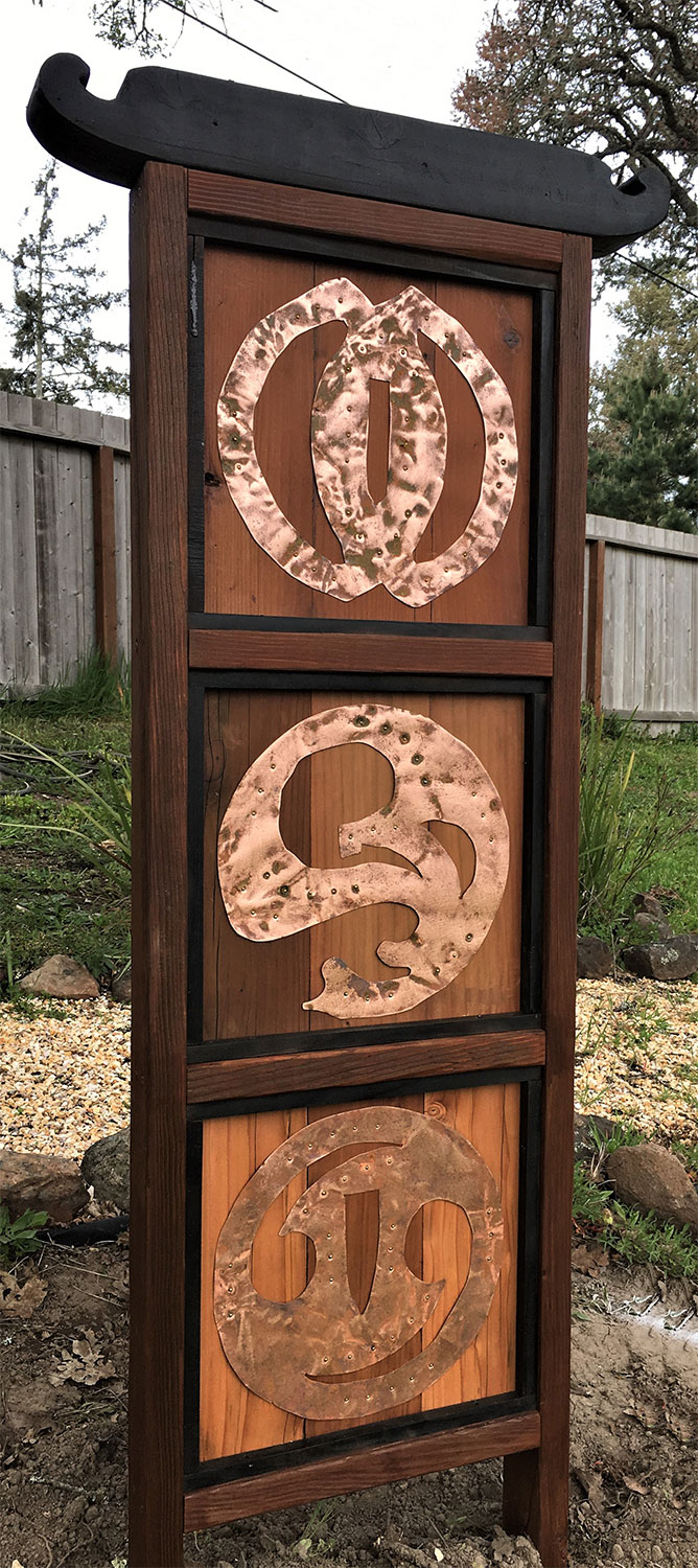 Tsuba Trio - Sculpture by Mike Laflin