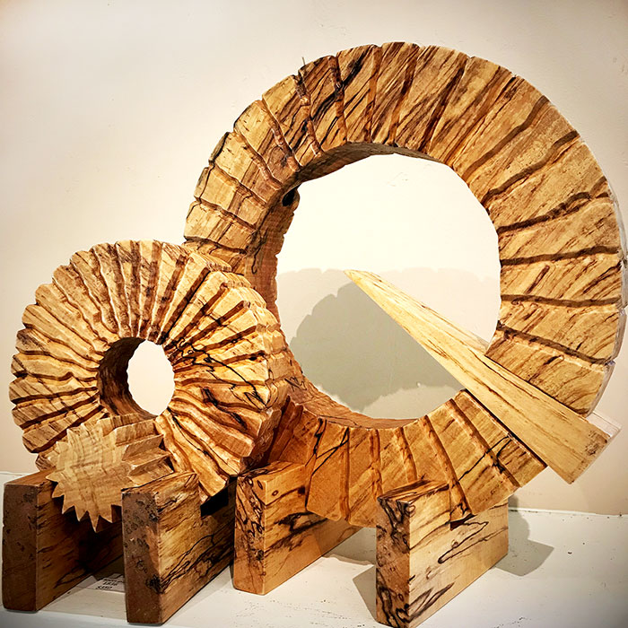 In Synch - Wood Sculpture by Mike Laflin