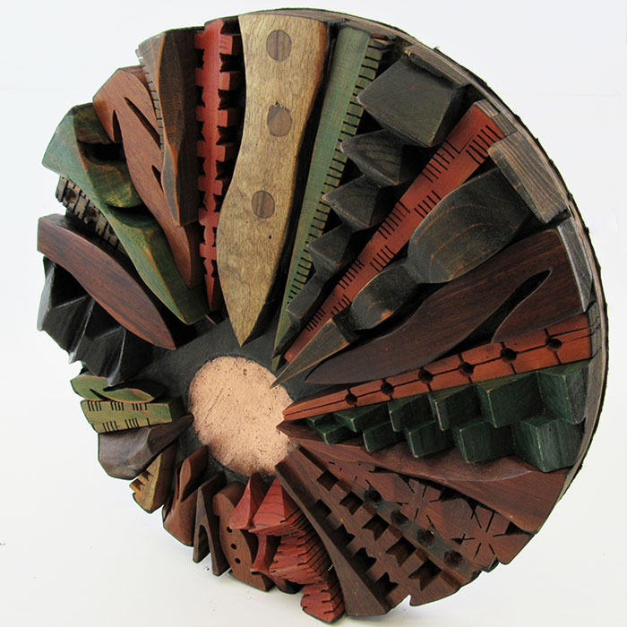 Kaleidoscope 3 - Wood Sculpture by Mike Laflin